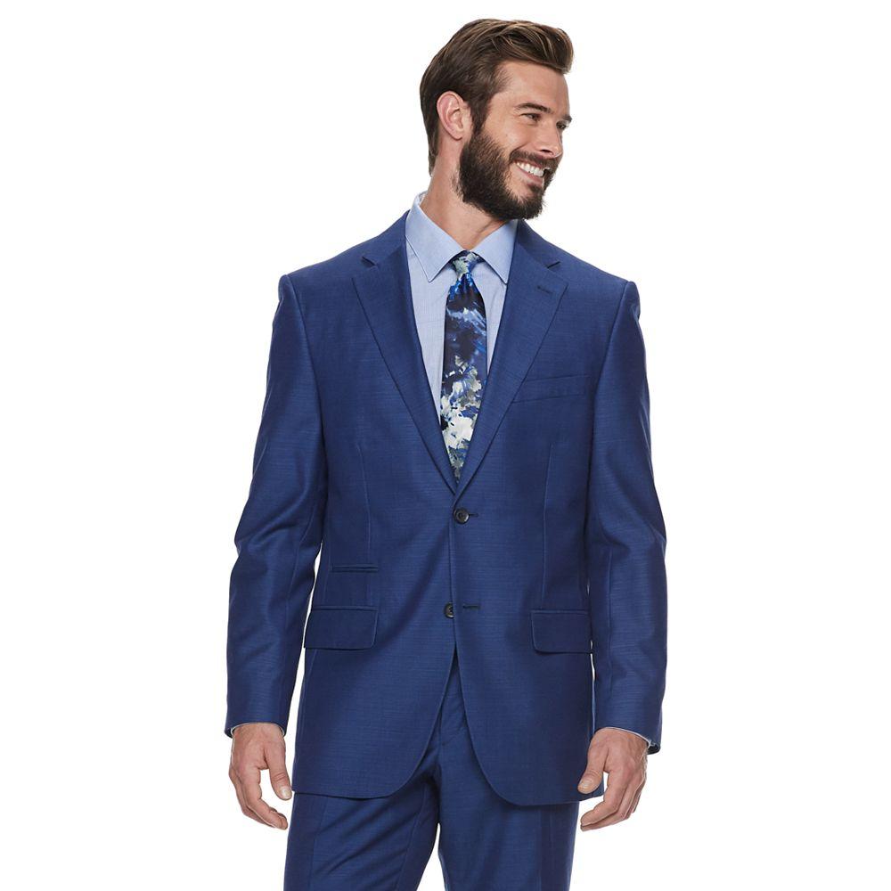 Men's Steve Harvey Tailored-Fit Textured Suit Jacket