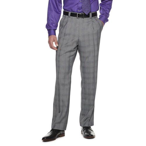 Men's Steve Harvey Solid Textured Pleated Suit Pants