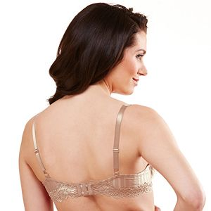 Lunaire Bra: Barbados Lace-Trim Mesh Full-Figure Demi Bra 15211