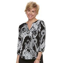 Women's Dana Buchman Knit Henley Top