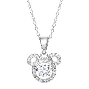 Disney's Mickey Cubic Zirconia Pendant Necklace
