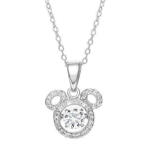 Disney's Mickey Cubic Zirconia Pendant Necklace