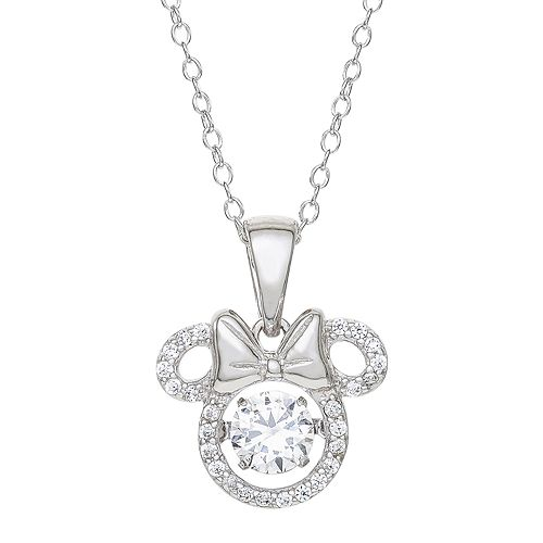 Disney's Minnie Mouse Cubic Zirconia Pendant Necklace