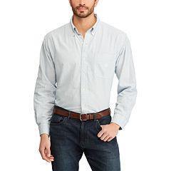 Big & Tall Chaps Bengal Striped Oxford Casual Button-Down Shirt