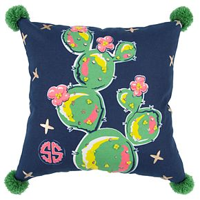 Simply Southern Cactus Floral Decorative Throw Pillow