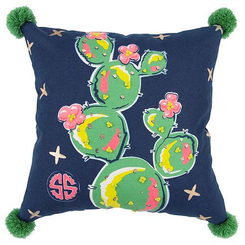 Simply Southern Cactus Floral Decorative Throw Pillow