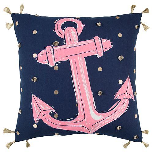 Simply Southern Anchor Coastal Decorative Throw Pillow