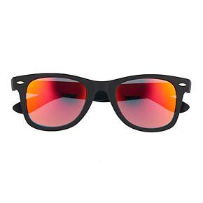 Men's Matte Rubberd Mirrored Sunglasses