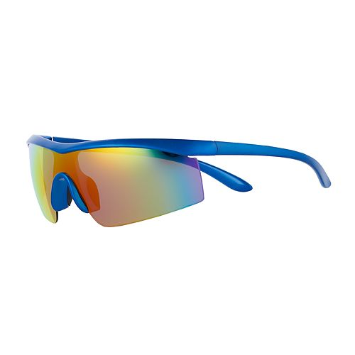 Men's Blue Rainbow Mirror Sunglasses