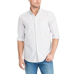 Big & Tall Chaps Bar Striped Button-Down Shirt