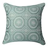 Spencer Home Decor Jessie Blue Crab Jacquard Decorative Throw Pillow