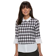 Women's ELLE™ Printed Mock-Layer Top