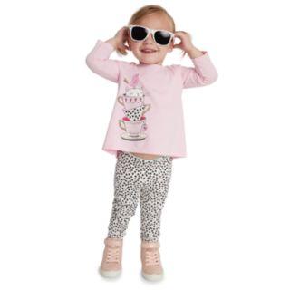 Baby Girl Jumping Beans® Printed Leggings