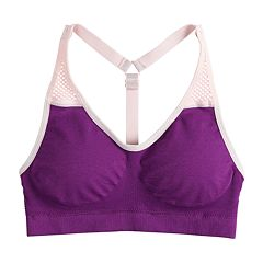 Girls 7-16 Maidenform Seamless Mesh T-Back Sports Bra