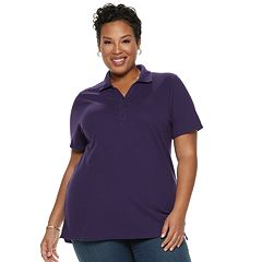 Plus Size Croft & Barrow® Johnny Collar Polo