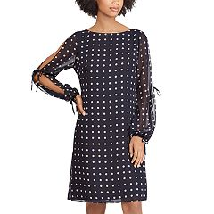 Women's Chaps Print Open Sleeve A-Line Dress