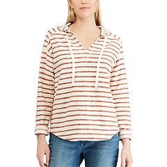 Women's Chaps Striped Hooded Tee
