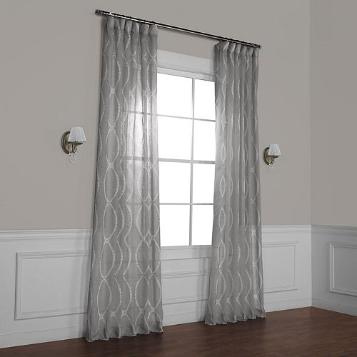 EFF Grecian Printed Sheer Window Curtain