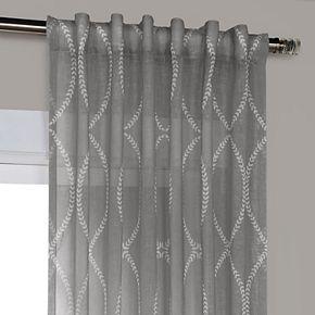 EFF Grecian Printed Sheer Window Curtain