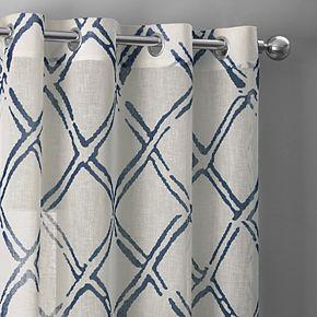 EFF Grommet Printed Sheer Curtain