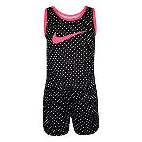 Girls 4-6x Nike Dri-FIT Polka-Dot Romper