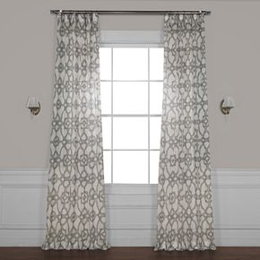 EFF Seaglass Printed Sheer Window Curtain