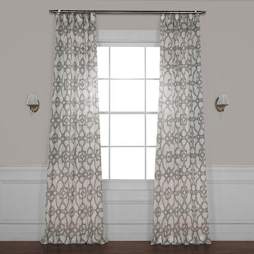 EFF Seaglass Printed Sheer Window Curtain