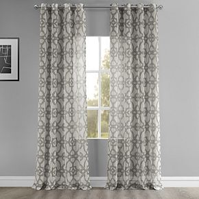 EFF Seaglass Grommet Printed Sheer Window Curtain