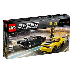 LEGO Speed Champions 2018 Dodge Challenger SRT Demon and 1970 Dodge Charger R/T 75893