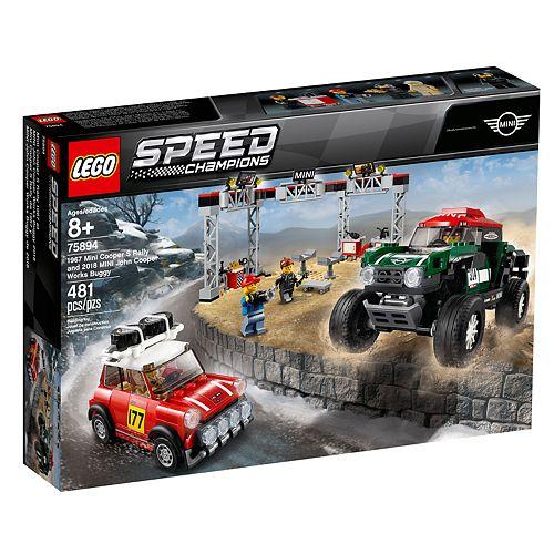 LEGO Speed Champions 1967 Mini Cooper S Rally and 2018 MINI John Cooper Works Buggy J75894