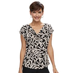 Women's Dana Buchman Travel Anywhere Print Cowlneck Top