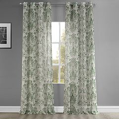EFF Xenia Grommet Printed Sheer Window Curtain