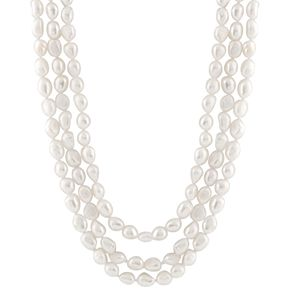 Freshwater Cultured Pearl Triple Strand Necklace