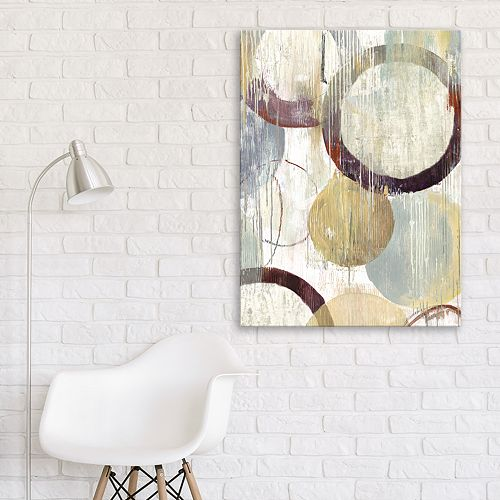 Artissimo Designs Distressed Rings II Wall Art