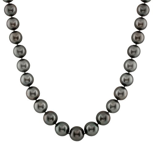 14k White Gold Tahitian Cultured Pearl Necklace (10-13 mm) - 18 in.