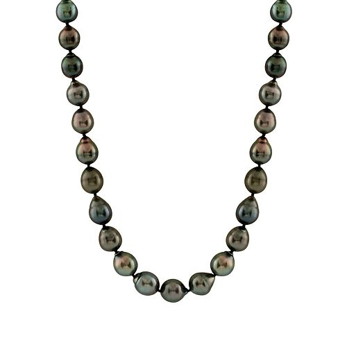 14k White Gold Tahitian Cultured Pearl Necklace ( 8-11 mm) - 18 in.