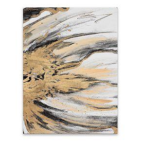 Artissimo Designs Golden Flow II Wall Art