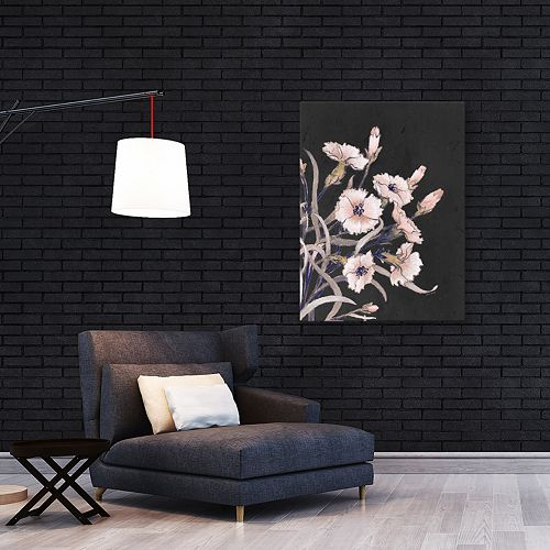 Artissimo Designs Wild Flower On Black I Wall Art