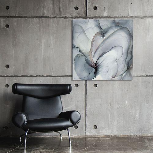 Artissimo Designs Puff Gray Wall Art