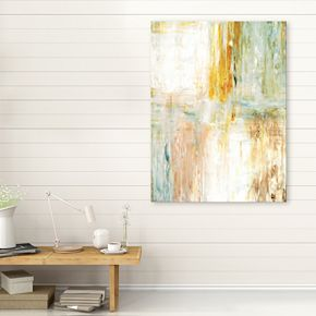 Artissimo Designs Teal & Green Abstract Wall Art