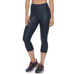 Women's FILA SPORT® Shiny High-Waisted Capri Leggings