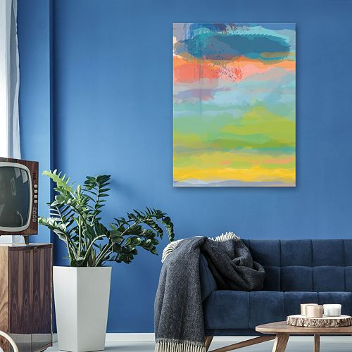 Artissimo Designs Coral Sky Wall Art