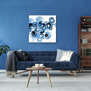 Artissimo Designs Circulation Midnight Wall Art