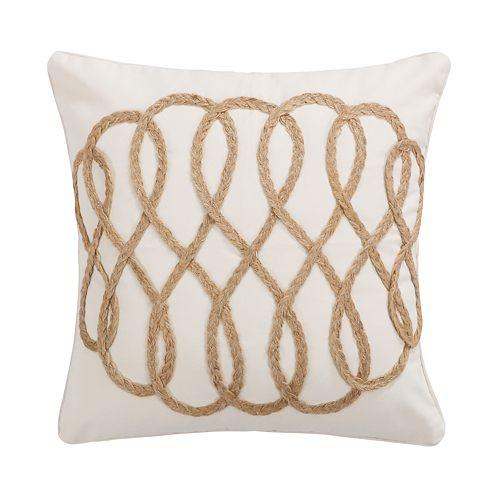 Capistrano Rope Lattice Throw Pillow