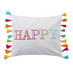 Maricela Happy Throw Pillow