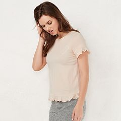 Women's LC Lauren Conrad Weekend Ruffle-Trim Tee