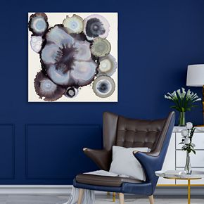 Artissimo Designs Cool Tones Geode Wall Art