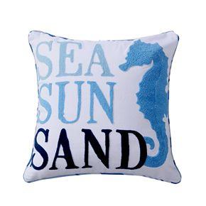 Dana Point Seahorse Throw Pillow