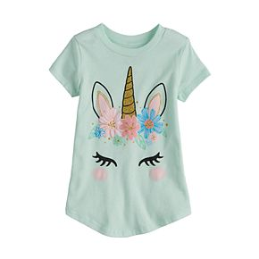 Toddler Girl Jumping Beans® Glittery Unicorn Tee