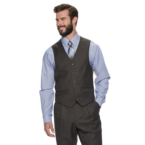 Men's Steve Harvey Fitted Stretch Suit Vest